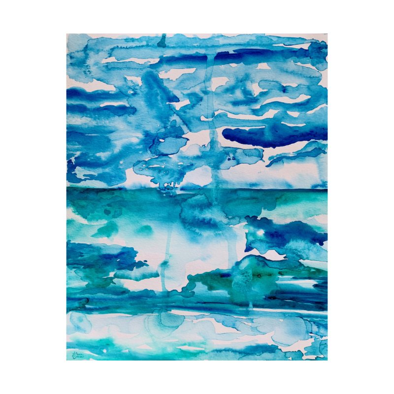 Cabo Beach Mexico Watercolor #2 Home Blanket by anoellejay's Artist Shop