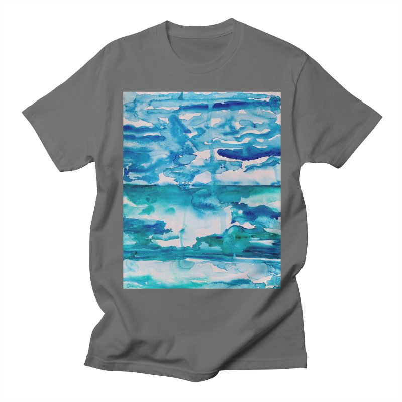 Cabo Beach Mexico Watercolor #2 Men's T-Shirt by anoellejay's Artist Shop