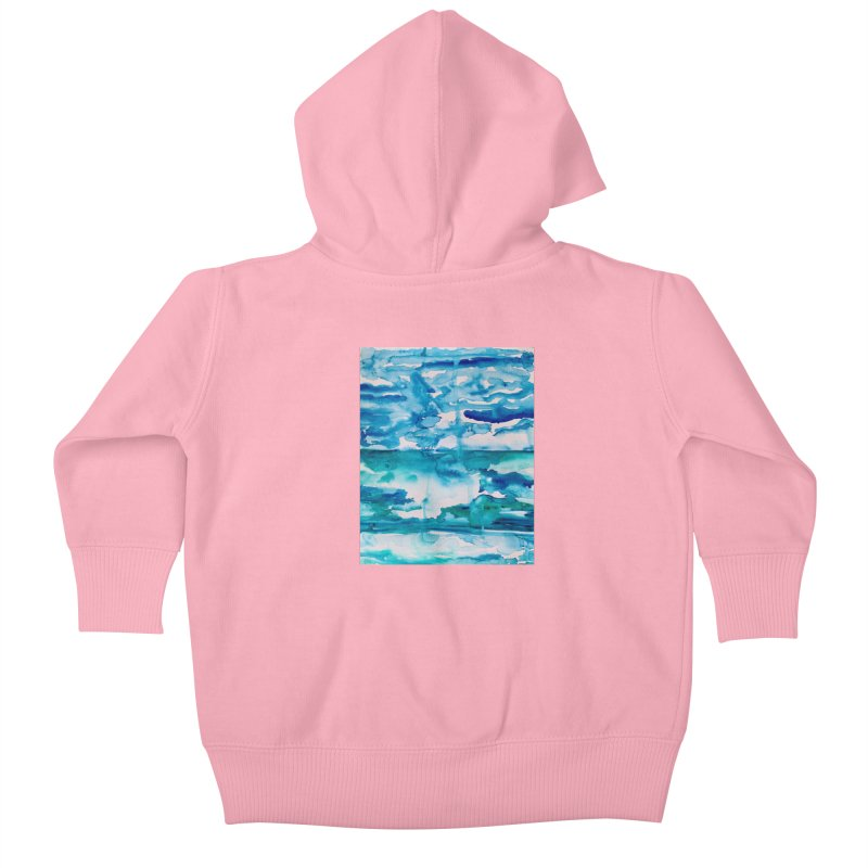 Cabo Beach Mexico Watercolor #2 Kids Baby Zip-Up Hoody by anoellejay's Artist Shop