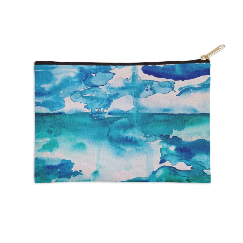 Cabo Beach Mexico Watercolor #2 Accessories Zip Pouch by anoellejay's Artist Shop