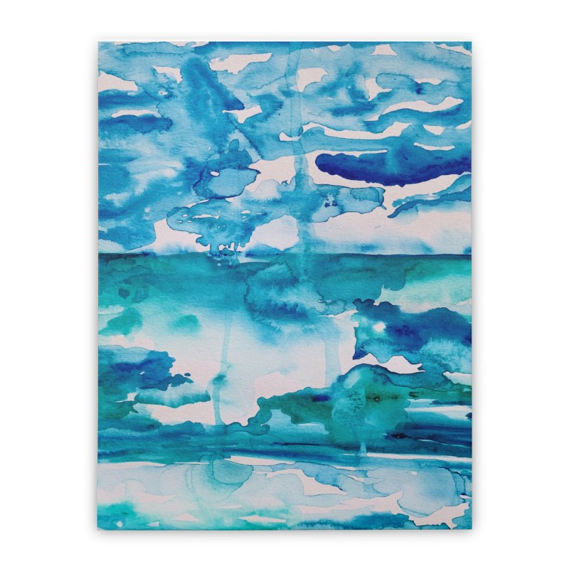 Cabo Beach Mexico Watercolor #2 Home Stretched Canvas by anoellejay's Artist Shop
