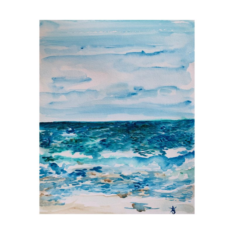 Cabo Beach Mexico Watercolor #1 Accessories Magnet by anoellejay's Artist Shop