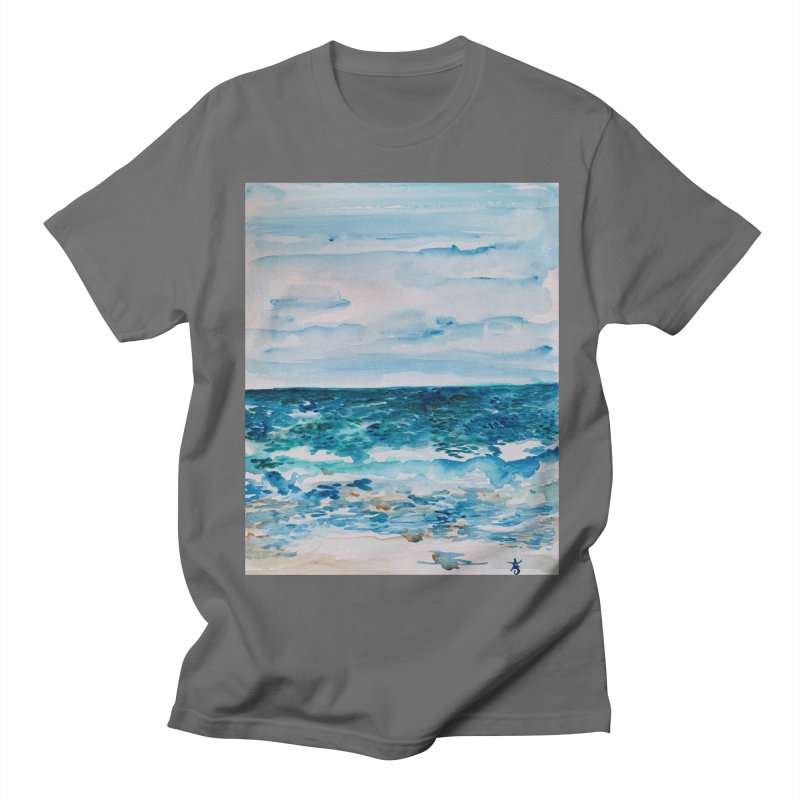 Cabo Beach Mexico Watercolor #1 Men's T-Shirt by anoellejay's Artist Shop