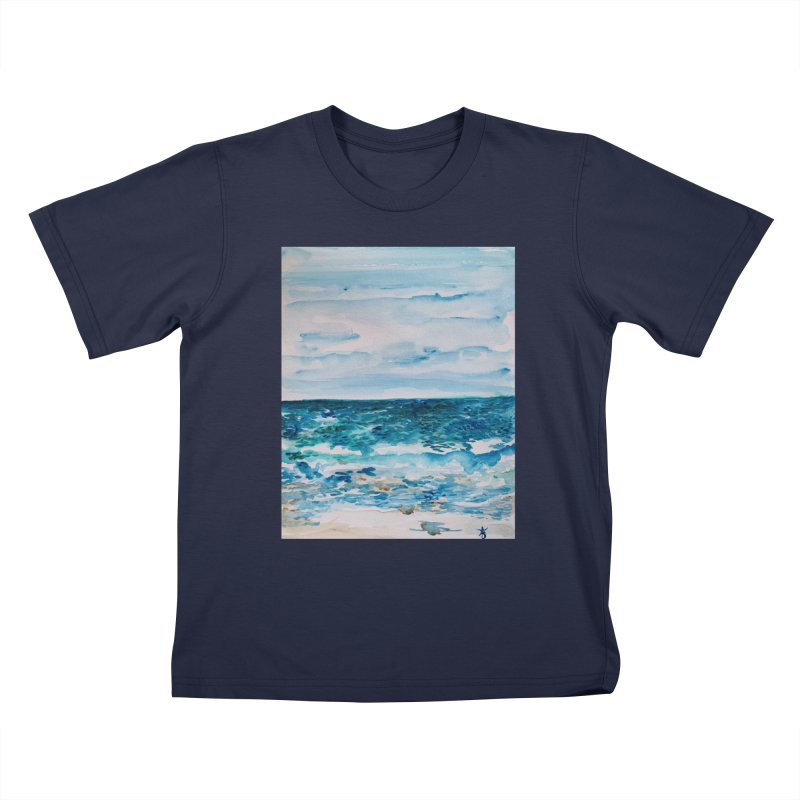 Cabo Beach Mexico Watercolor #1 Kids T-Shirt by anoellejay's Artist Shop