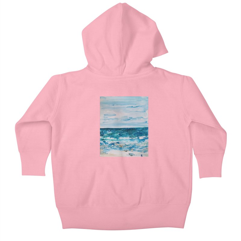 Cabo Beach Mexico Watercolor #1 Kids Baby Zip-Up Hoody by anoellejay's Artist Shop