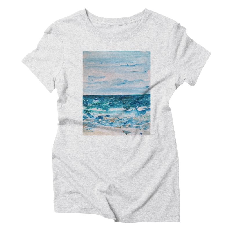 Cabo Beach Mexico Watercolor #1 Women's T-Shirt by anoellejay's Artist Shop