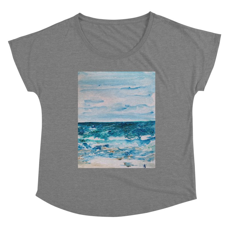 Cabo Beach Mexico Watercolor #1 Women's Scoop Neck by anoellejay's Artist Shop