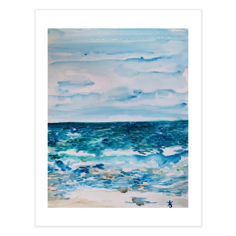 Cabo Beach Mexico Watercolor #1 Home Fine Art Print by anoellejay's Artist Shop