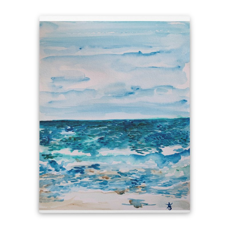 Cabo Beach Mexico Watercolor #1 Home Stretched Canvas by anoellejay's Artist Shop