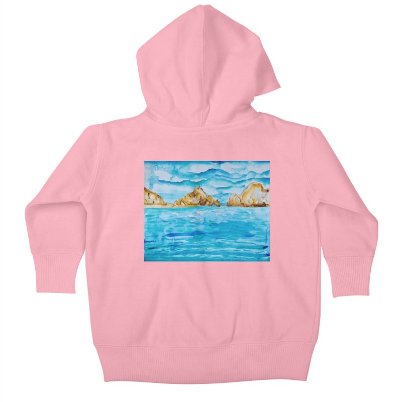 The Arch Cabo San Lucas Mexico Kids Baby Zip-Up Hoody by anoellejay's Artist Shop