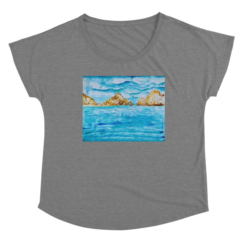 The Arch Cabo San Lucas Mexico Women's Scoop Neck by anoellejay's Artist Shop