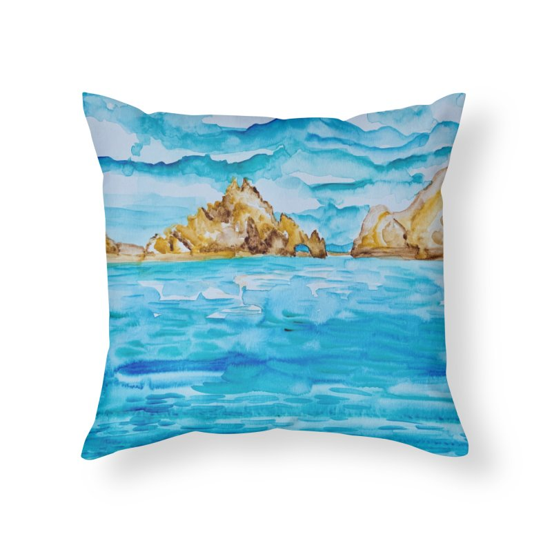 The Arch Cabo San Lucas Mexico Home Throw Pillow by anoellejay's Artist Shop