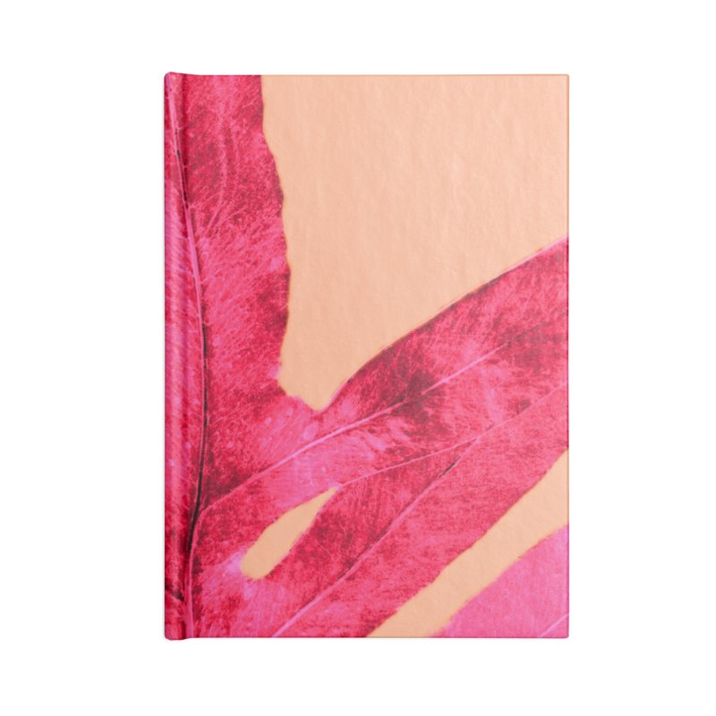 Peach Pink Ferns, Living Coral Accessories Notebook by anoellejay's Artist Shop