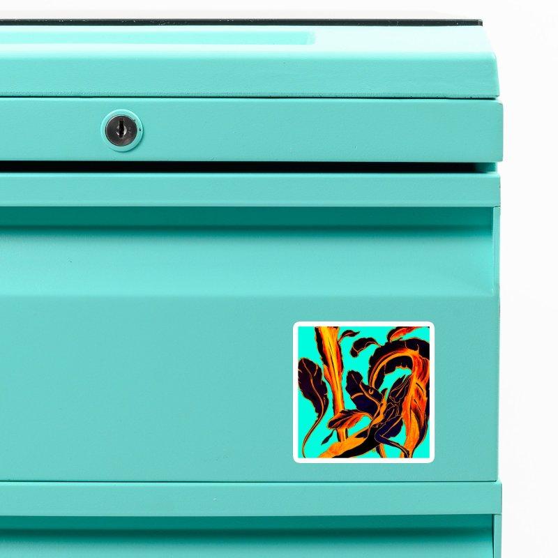 Blue Succulent Accessories Magnet by anoellejay's Artist Shop