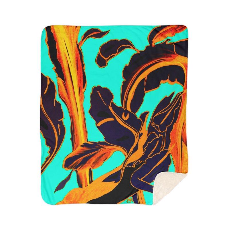 Blue Succulent Home Blanket by anoellejay's Artist Shop