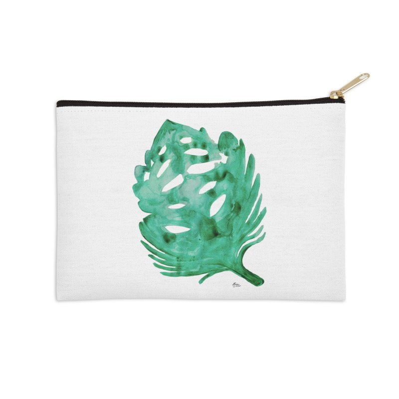 Banana Leaf Accessories Zip Pouch by anoellejay's Artist Shop