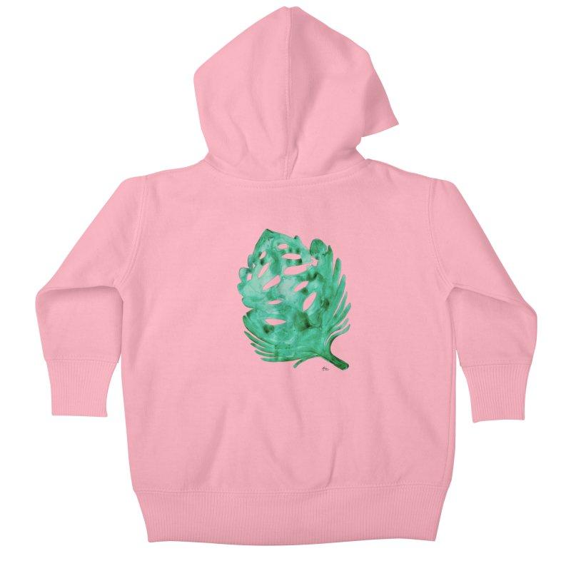 Banana Leaf Kids Baby Zip-Up Hoody by anoellejay's Artist Shop