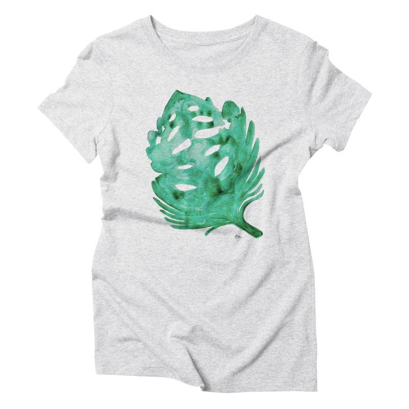 Banana Leaf Women's T-Shirt by anoellejay's Artist Shop