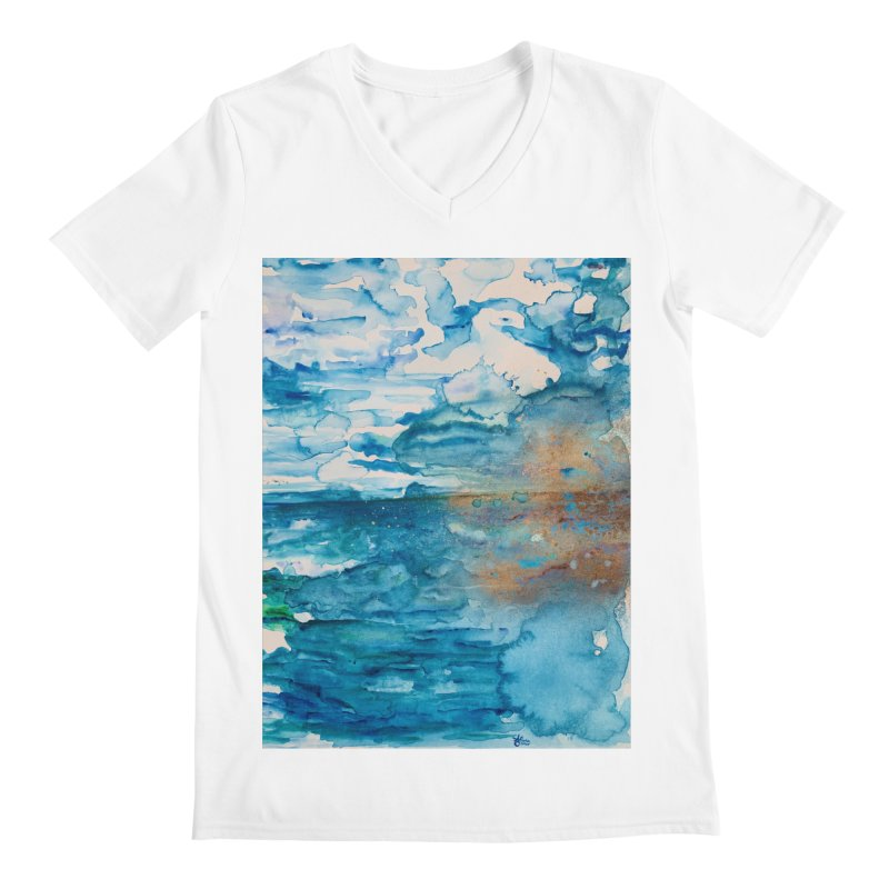 Save The Oceans, Cabo Beaches Men's V-Neck by anoellejay's Artist Shop