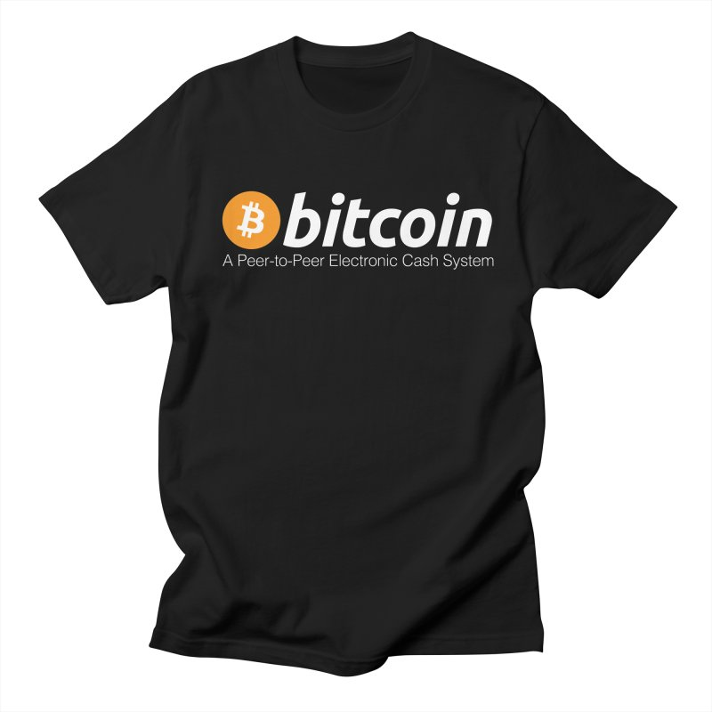 Bitcoin: a Peer-to-Peer Electronic Cash System Men's T-Shirt by L33T GUY'S CRYPTO TEES