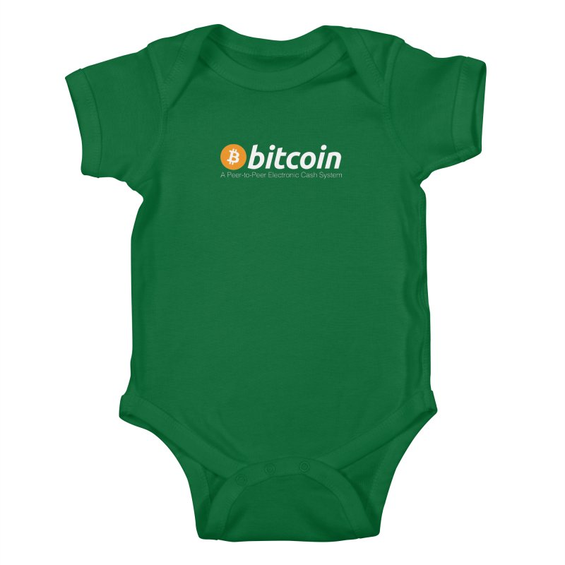 Bitcoin: a Peer-to-Peer Electronic Cash System Kids Baby Bodysuit by L33T GUY'S CRYPTO TEES