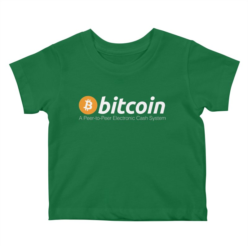 Bitcoin: a Peer-to-Peer Electronic Cash System Kids Baby T-Shirt by L33T GUY'S CRYPTO TEES