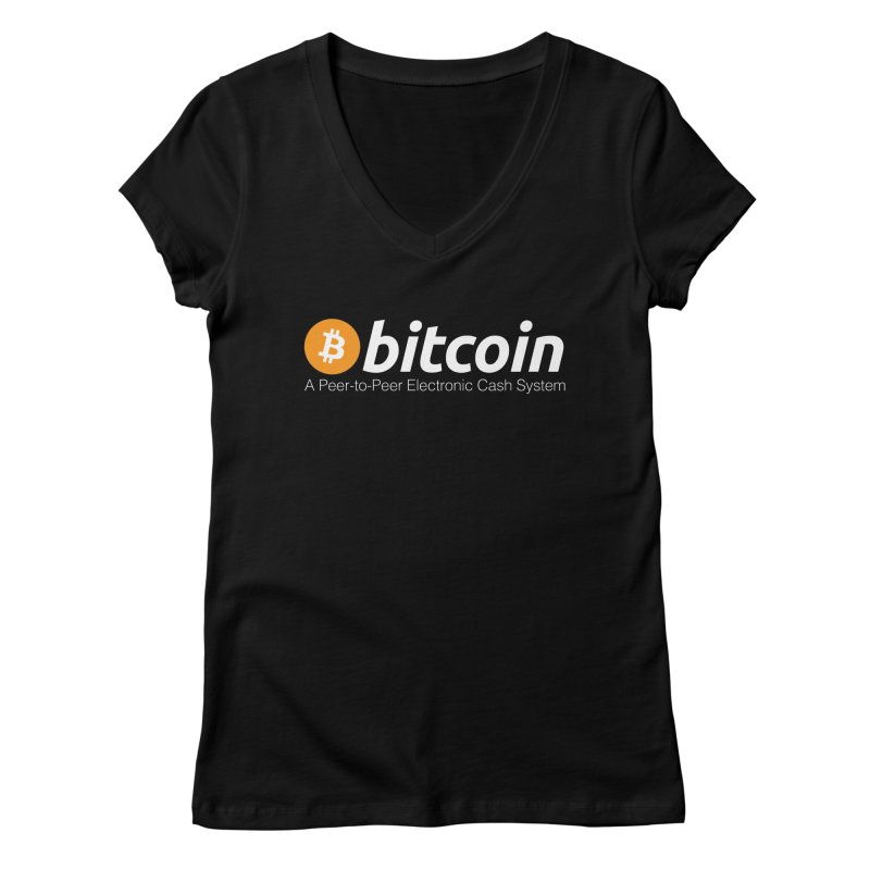 Bitcoin: a Peer-to-Peer Electronic Cash System Women's V-Neck by L33T GUY'S CRYPTO TEES