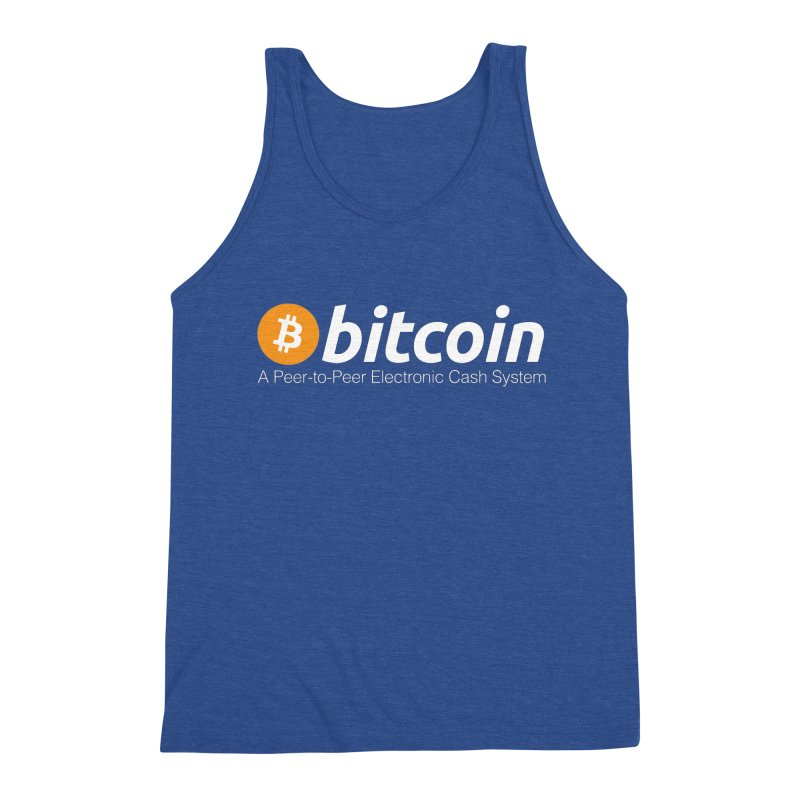 Bitcoin: a Peer-to-Peer Electronic Cash System Men's Tank by L33T GUY'S CRYPTO TEES