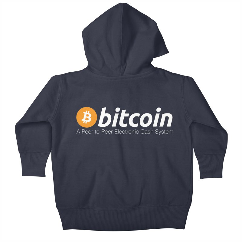Bitcoin: a Peer-to-Peer Electronic Cash System Kids Baby Zip-Up Hoody by L33T GUY'S CRYPTO TEES