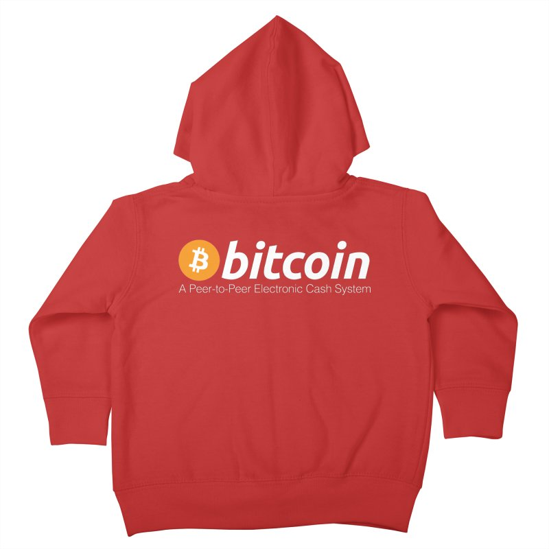Bitcoin: a Peer-to-Peer Electronic Cash System Kids Toddler Zip-Up Hoody by L33T GUY'S CRYPTO TEES