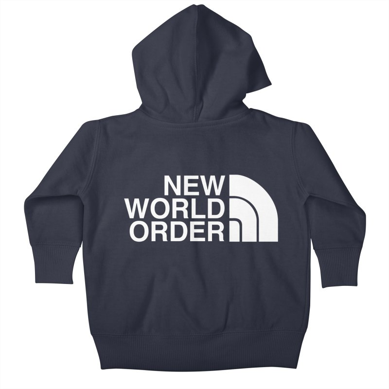 The New World Order Tee Kids Baby Zip-Up Hoody by L33T GUY'S CRYPTO TEES