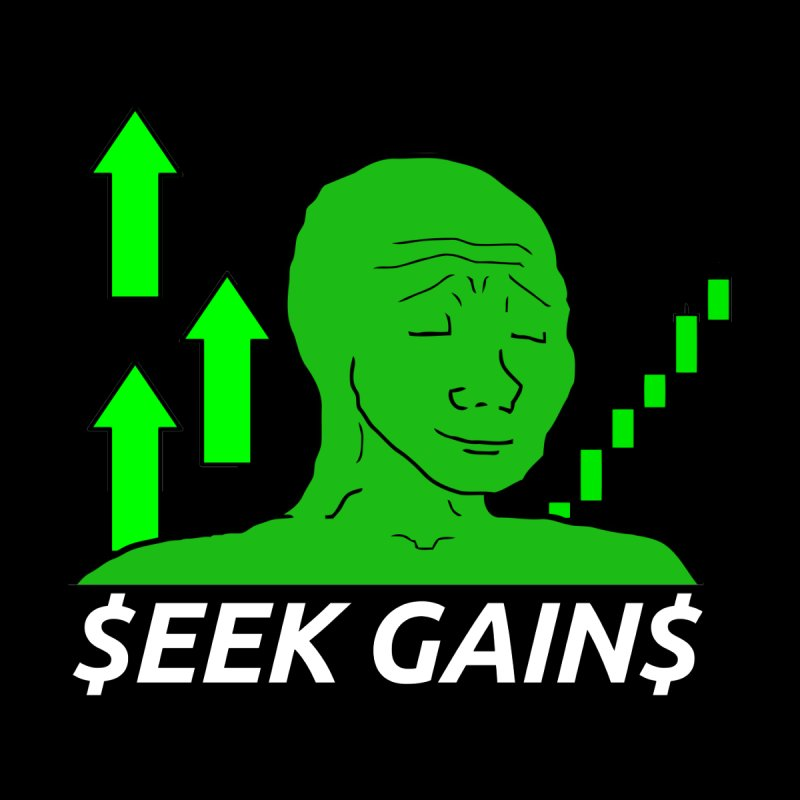 Seek Gains Wojak Men's Tank by L33T GUY'S CRYPTO TEES