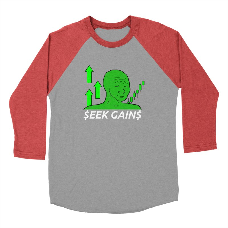 Seek Gains Wojak Men's Longsleeve T-Shirt by L33T GUY'S CRYPTO TEES
