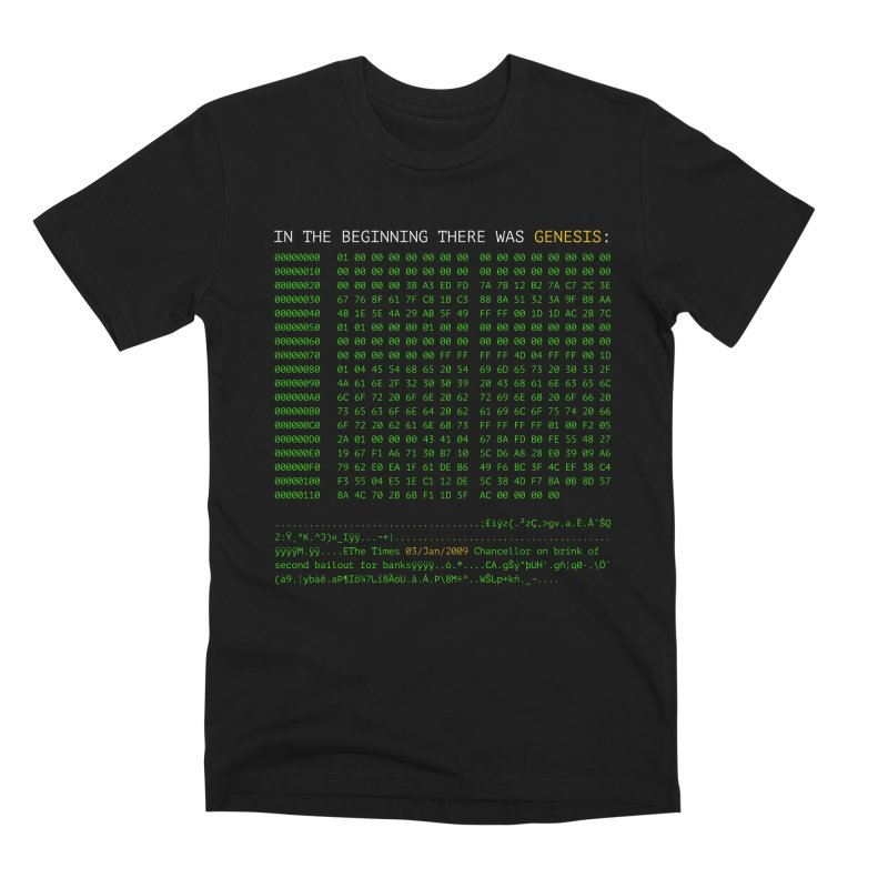 In the Beginning There was Genesis Men's T-Shirt by L33T GUY'S CRYPTO TEES