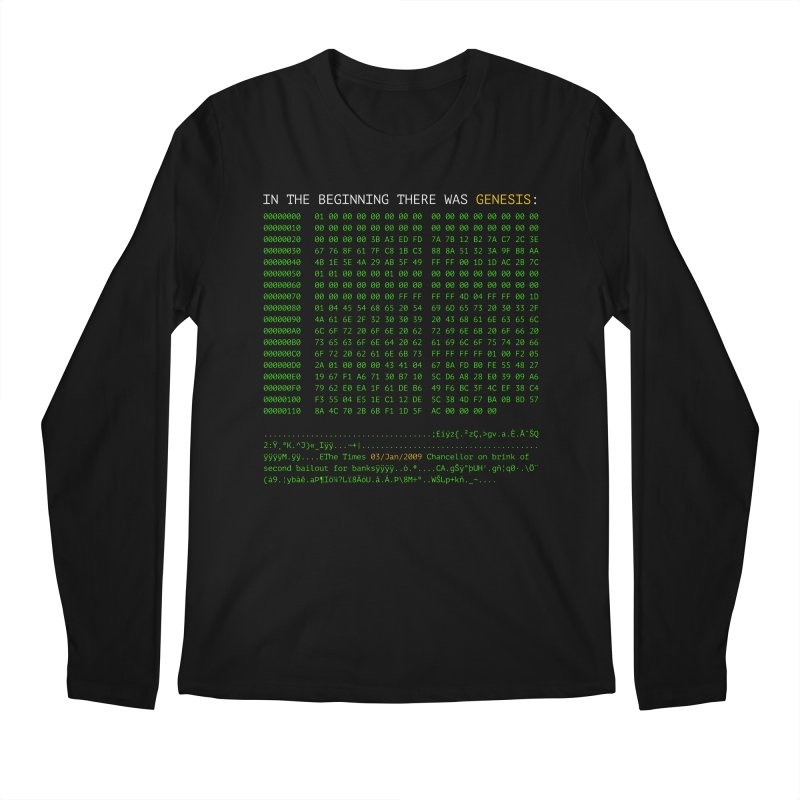 In the Beginning There was Genesis Men's Longsleeve T-Shirt by L33T GUY'S CRYPTO TEES