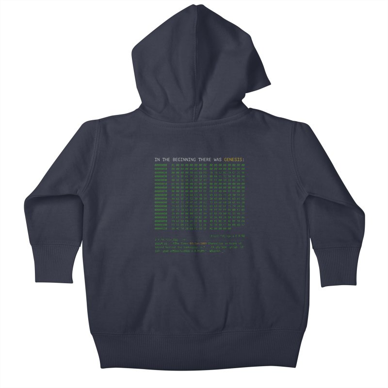 In the Beginning There was Genesis Kids Baby Zip-Up Hoody by L33T GUY'S CRYPTO TEES