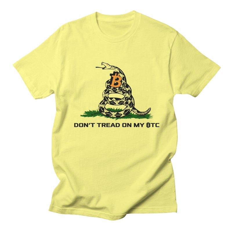 Don't Tread on my BTC Men's T-Shirt by L33T GUY'S CRYPTO TEES