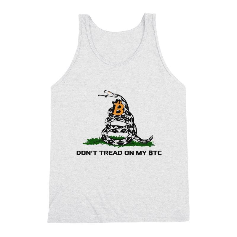 Don't Tread on my BTC Men's Tank by L33T GUY'S CRYPTO TEES
