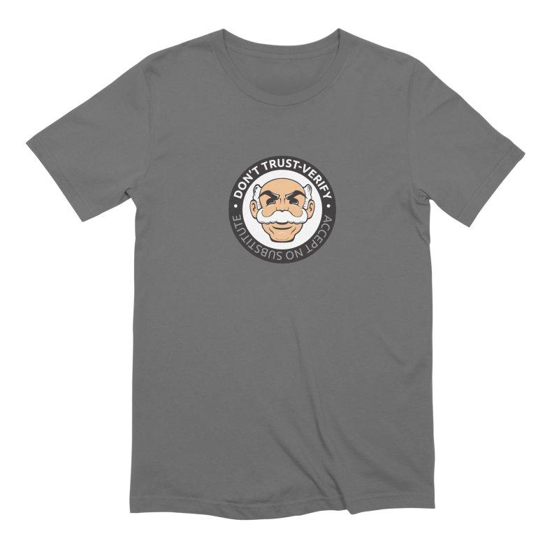 Don't Trust - Verify Men's T-Shirt by L33T GUY'S CRYPTO TEES