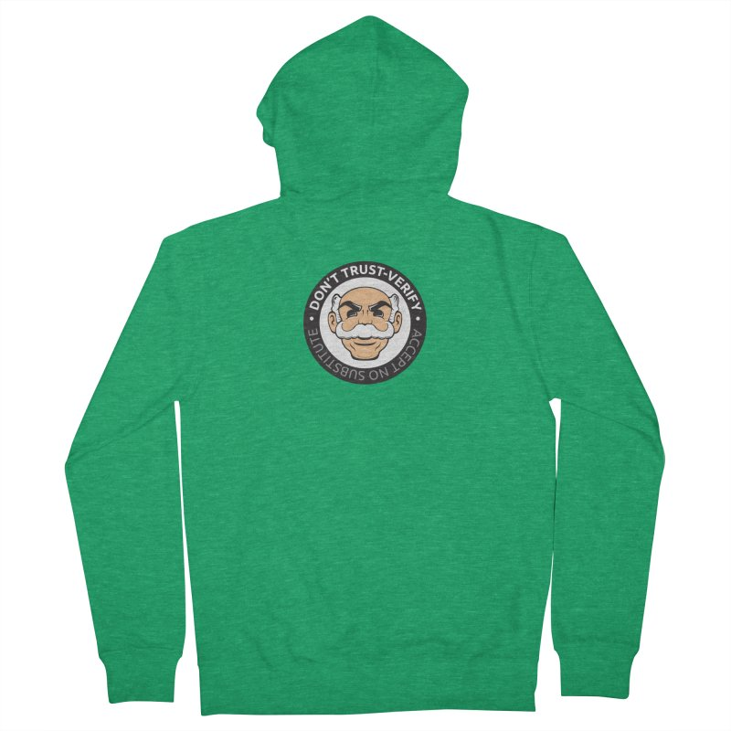 Don't Trust - Verify Men's Zip-Up Hoody by L33T GUY'S CRYPTO TEES