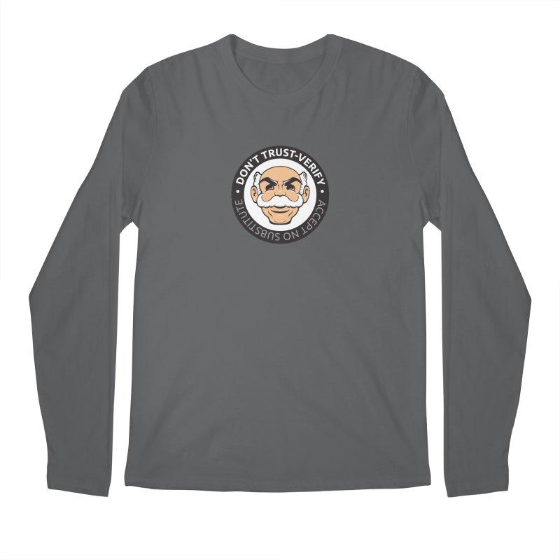 Don't Trust - Verify Men's Longsleeve T-Shirt by L33T GUY'S CRYPTO TEES