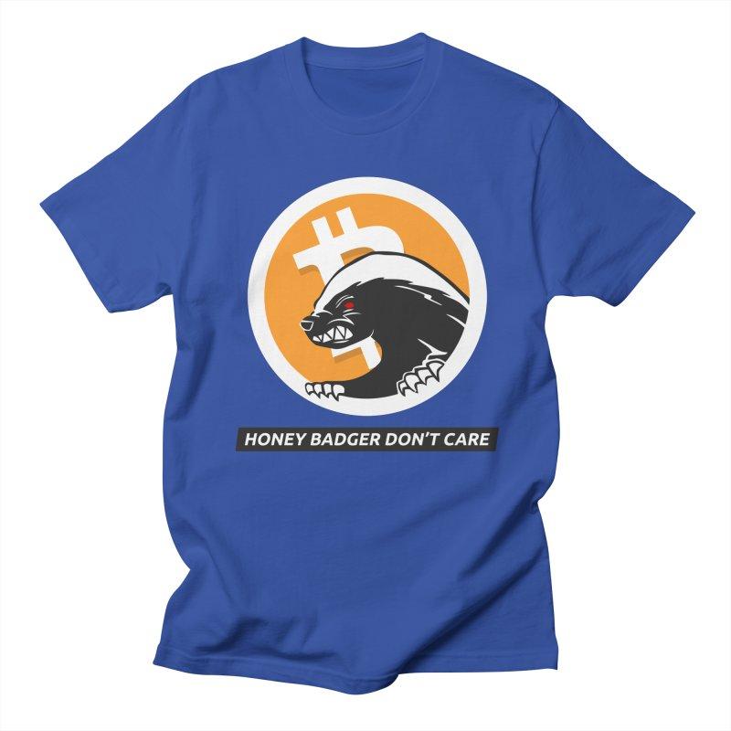Honey Badger Don't Care Men's T-Shirt by L33T GUY'S CRYPTO TEES