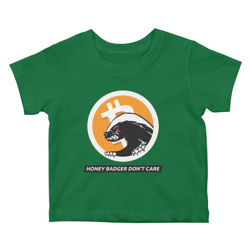 Honey Badger Don't Care Kids Baby T-Shirt by L33T GUY'S CRYPTO TEES
