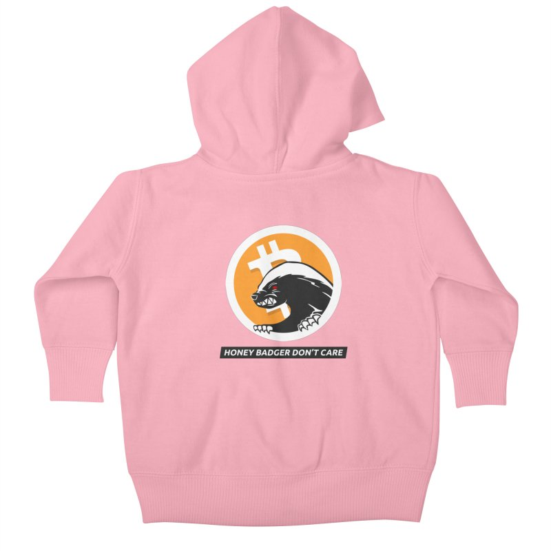 Honey Badger Don't Care Kids Baby Zip-Up Hoody by L33T GUY'S CRYPTO TEES