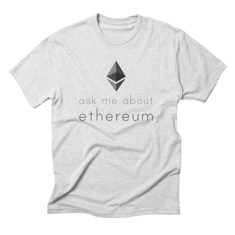 Ask me about ethereum Men's T-Shirt by L33T GUY'S CRYPTO TEES