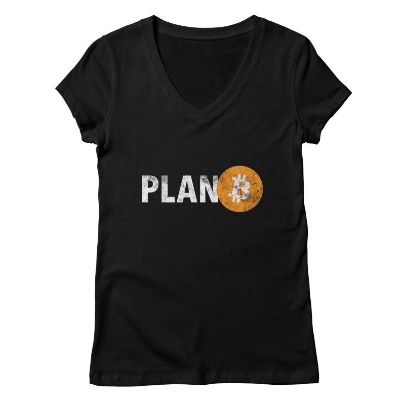 PLAN B Women's V-Neck by L33T GUY'S CRYPTO TEES