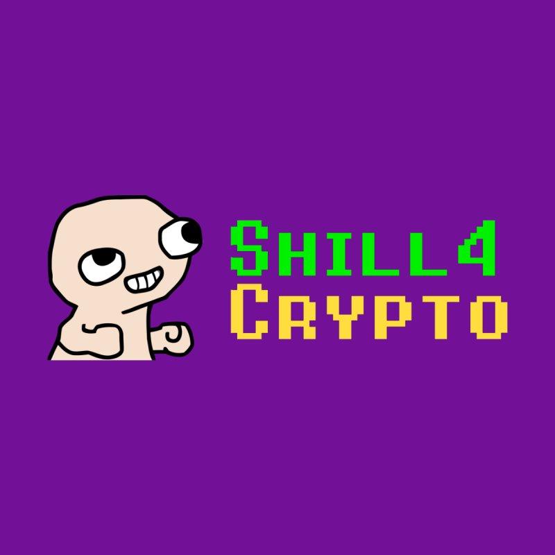 SHILL 4 CRYPTO Men's Longsleeve T-Shirt by L33T GUY'S CRYPTO TEES