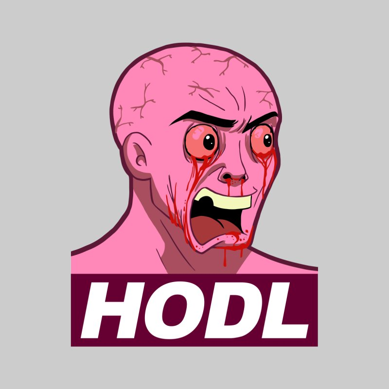 Pink Wojak - HODL Men's Longsleeve T-Shirt by L33T GUY'S CRYPTO TEES