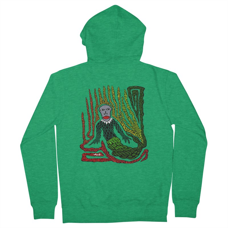 The Genius birdman Men's French Terry Zip-Up Hoody by antartant's Artist Shop