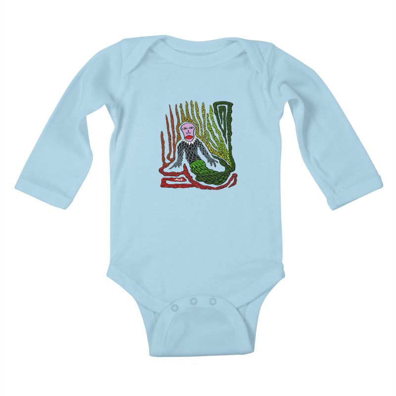 The Genius birdman Kids Baby Longsleeve Bodysuit by antartant's Artist Shop